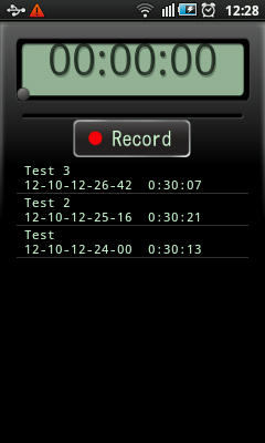 Android Voice Recorder Home