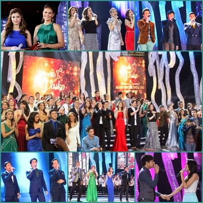 Kapamilya stars gather for the 2013 ABS-CBN Christmas Special titled 'Kwento ng Pasko: Pag-asa at Pagbangon' solidarity concert