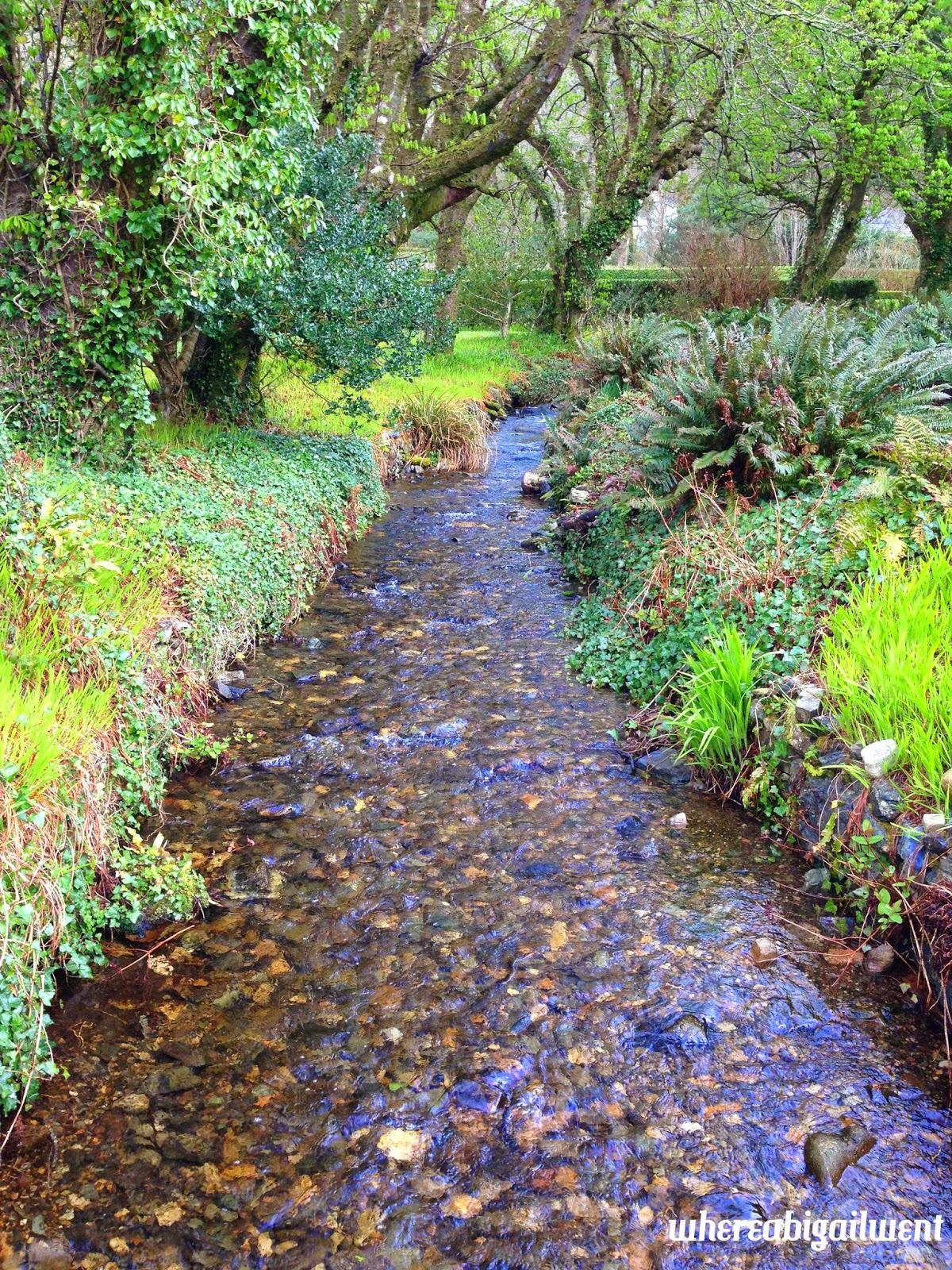 Kylemore Abbey Victorian Walled Garden Stream