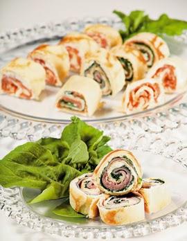 Bocaditos Salados, Rollos de Espinaca