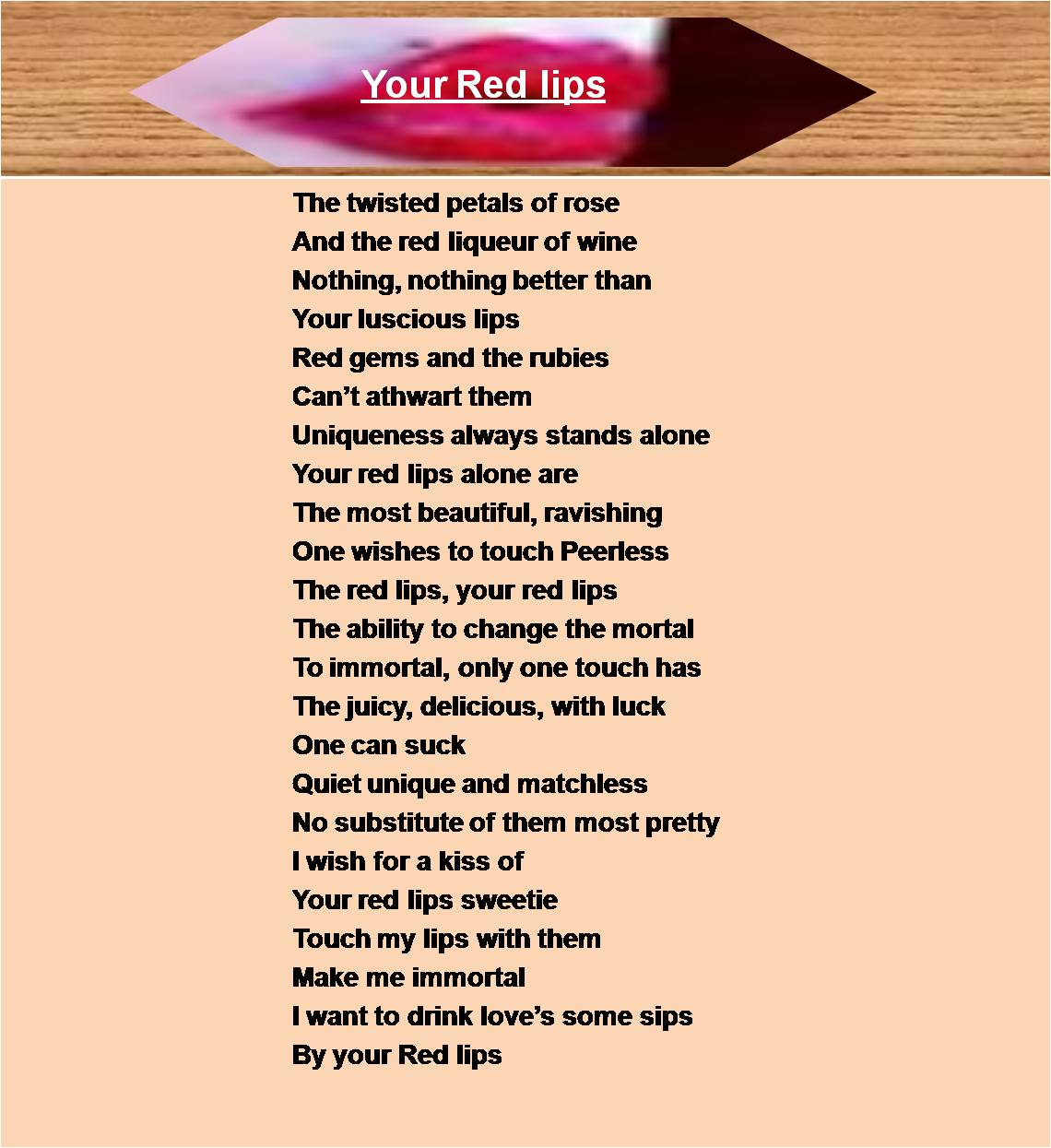 Beautylove and Poetry: Your Red Lips