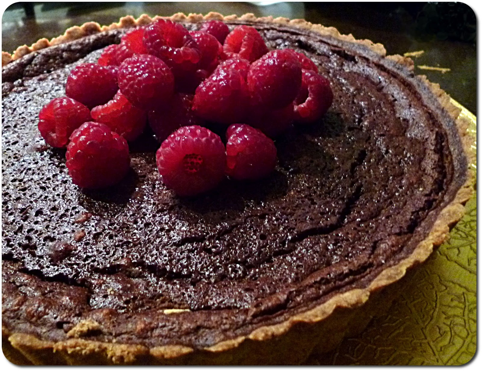 MiNa's Food Adventures: Chocolate & Raspberry Tart Recipe