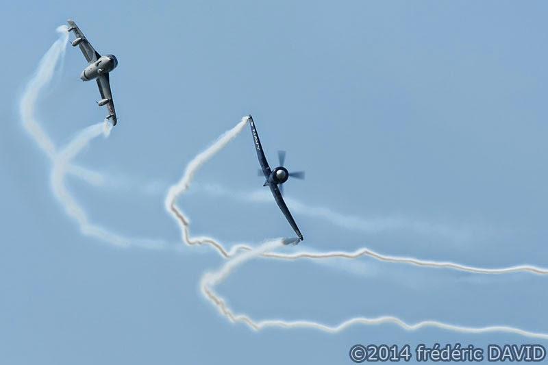 duo avions aérien meeting hawker hunter Sea Fury La Ferté-Alais Essonne