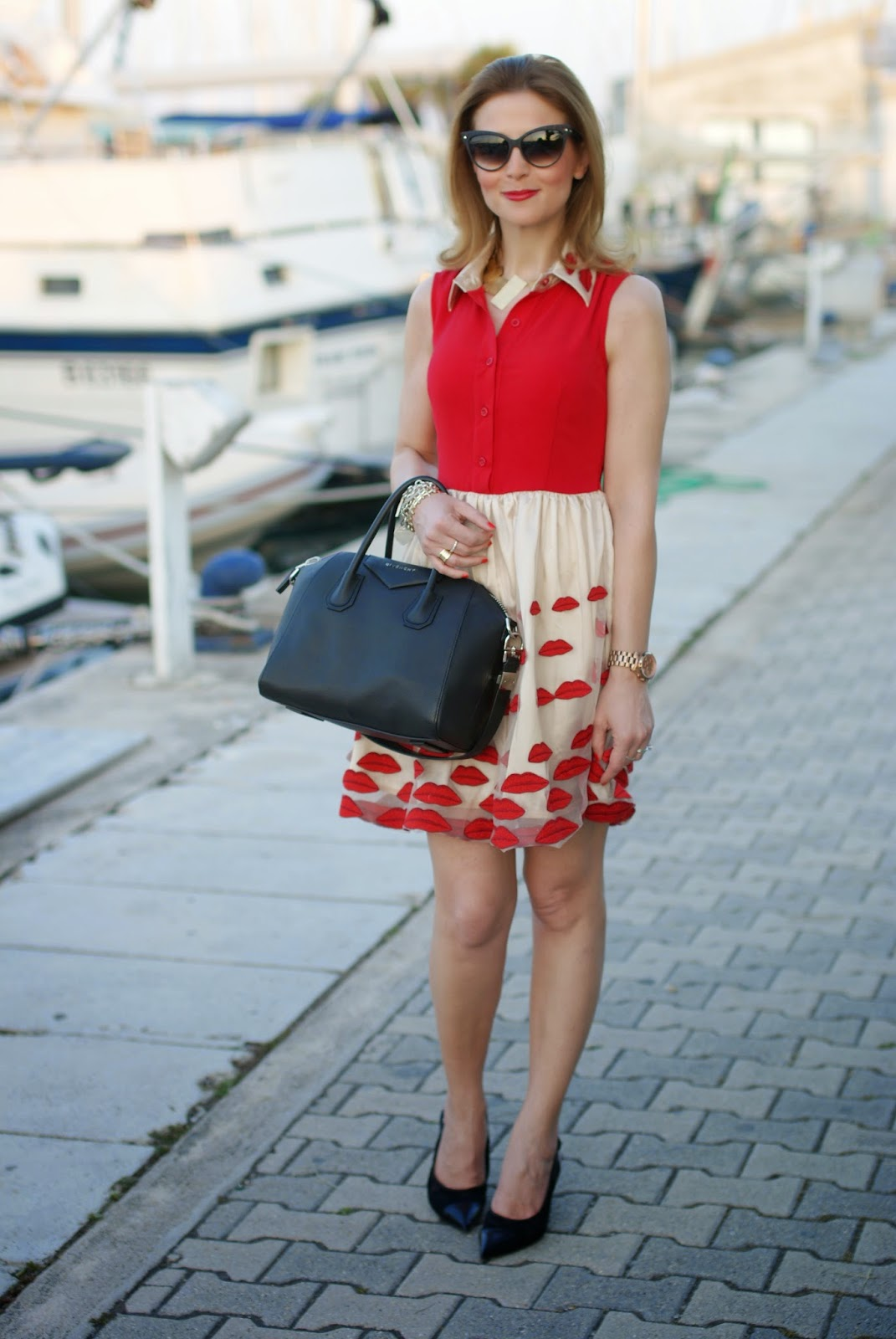 Nando Muzi shoes, Choies lips dress, Givenchy Antigona bag, Fashion and Cookies, fashion blogger