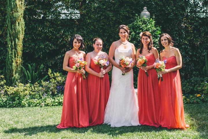 coral-bridesmaids-dresses