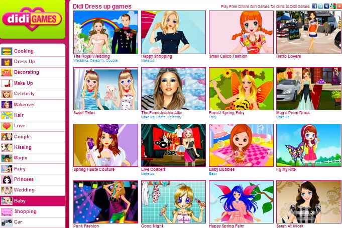 play free online girls games on didi games