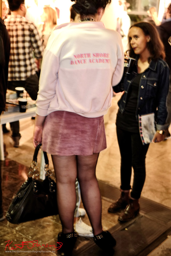 Pink jacket, North Shore Dance Academy, Richard Kern Exhibition Sydney -VICE Mag - Street Fashion Sydney.
