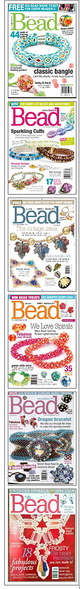 Find my wirework projects in these issues of Bead...