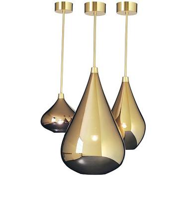 light pendants that look like raindrops themodernsybarite