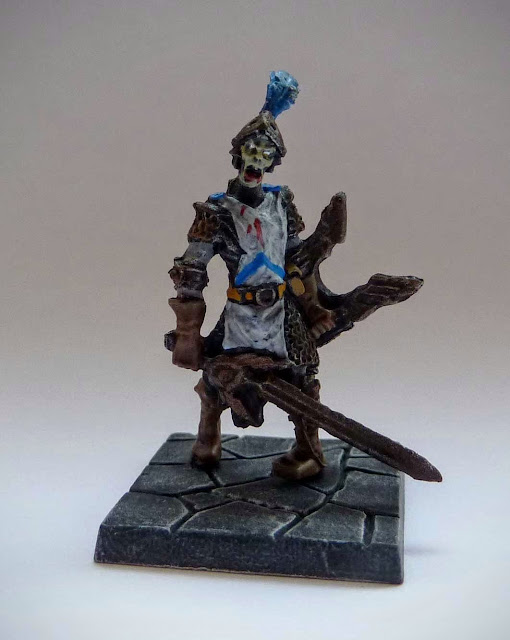 Dungeon Saga: Dwarf King's Quest painted evil dead: armoured zombie.