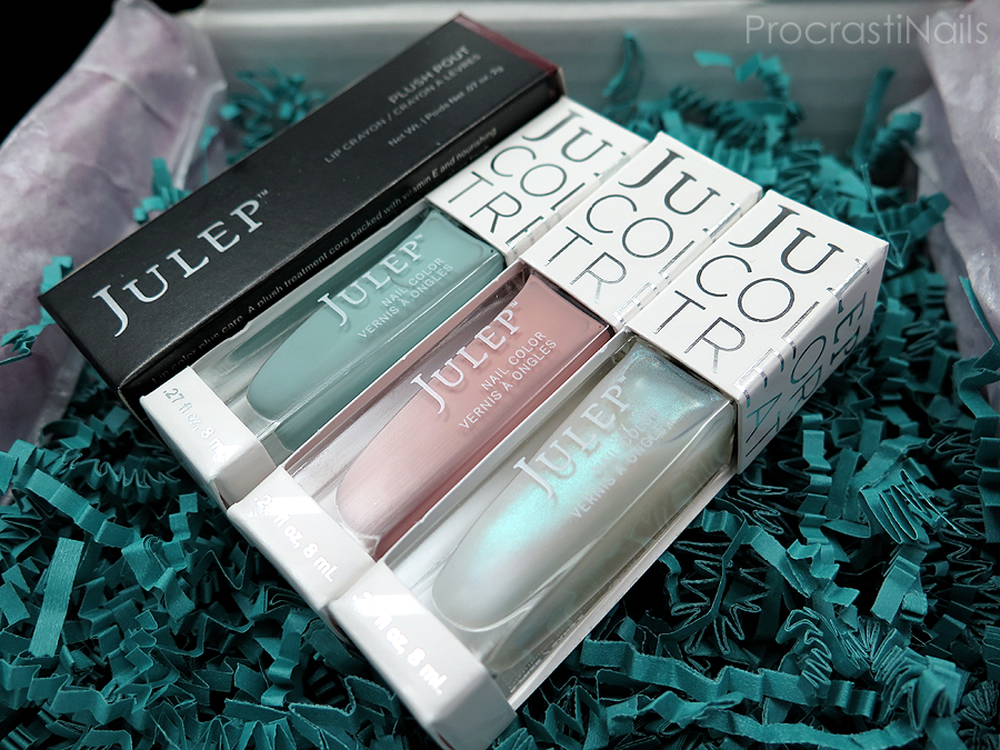 January 2015 Julep Maven Box Unboxing with Shelly, Phyllis, Tilda and Plush Pout Lip Crayon in Magenta Plum