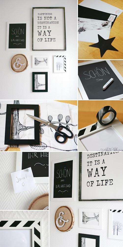 bilderwand gingered things der diy bastel blog rund. Black Bedroom Furniture Sets. Home Design Ideas