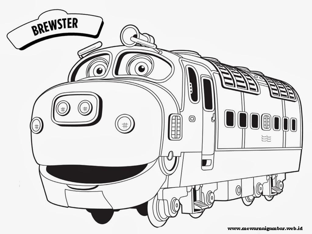 mewarnai gambar brewster kereta chuggington
