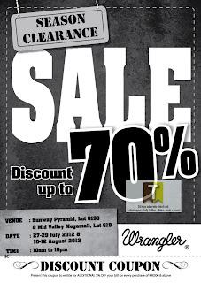 Wrangler Off-Season Clearance Sale