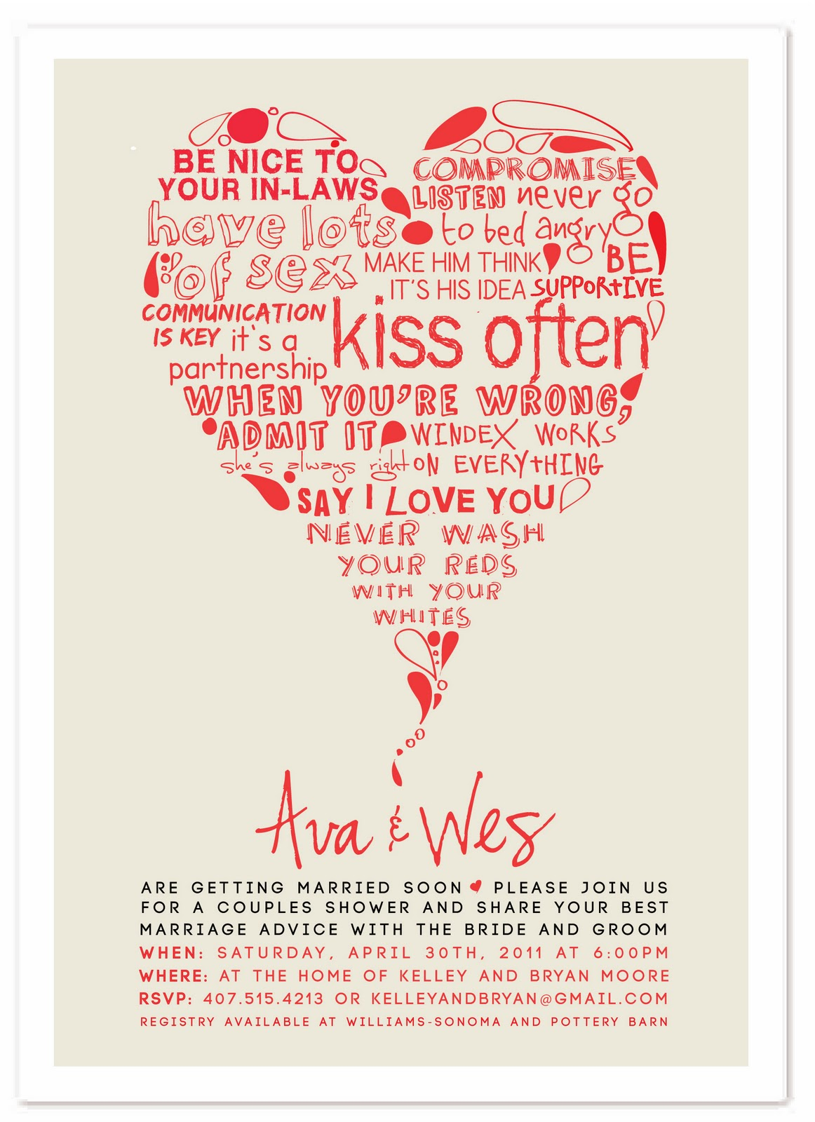 Ewe Hooo Minted Design Challenge Quot Marriage Advice Quot Wedding Shower Invite