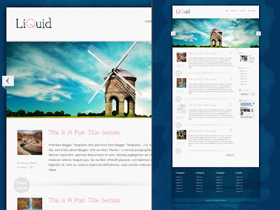 Download Liquid Blogger Template