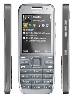 Nokia E52  Nokia E series phone has simple keypad