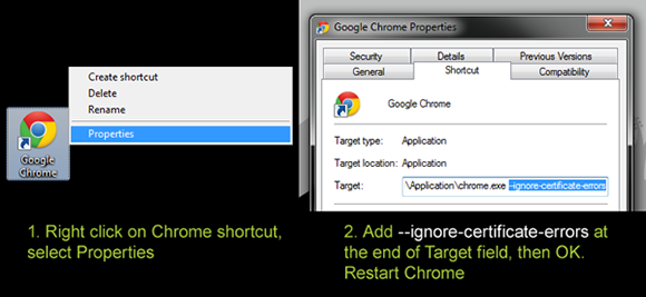 Google Chrome Android APK Shortcut Settings