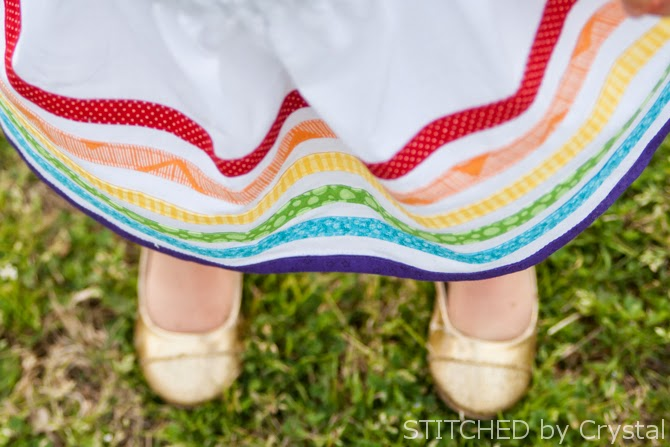 Rainbow Bias Tape Skirt