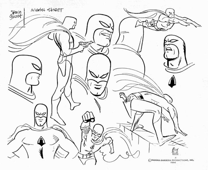 Space Ghost Model Sheet