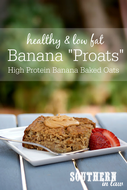 Healthy Banana Baked Protein Oatmeal Recipe   low fat, gluten free, high protein, clean eating, lower carb, healthy