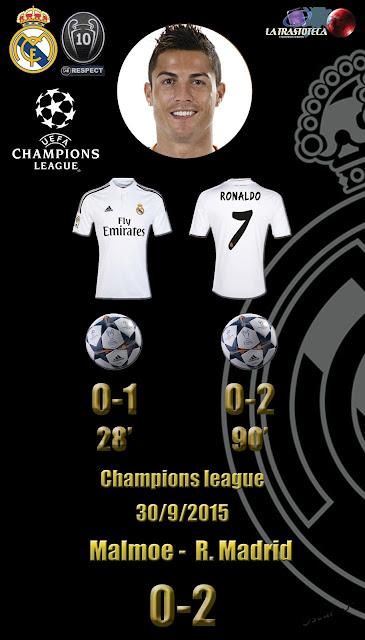 Cristiano Ronaldo (Doblete) - Malmoe 0-2 Real Madrid. Champions League. Jornada 2 (30/09/2014)
