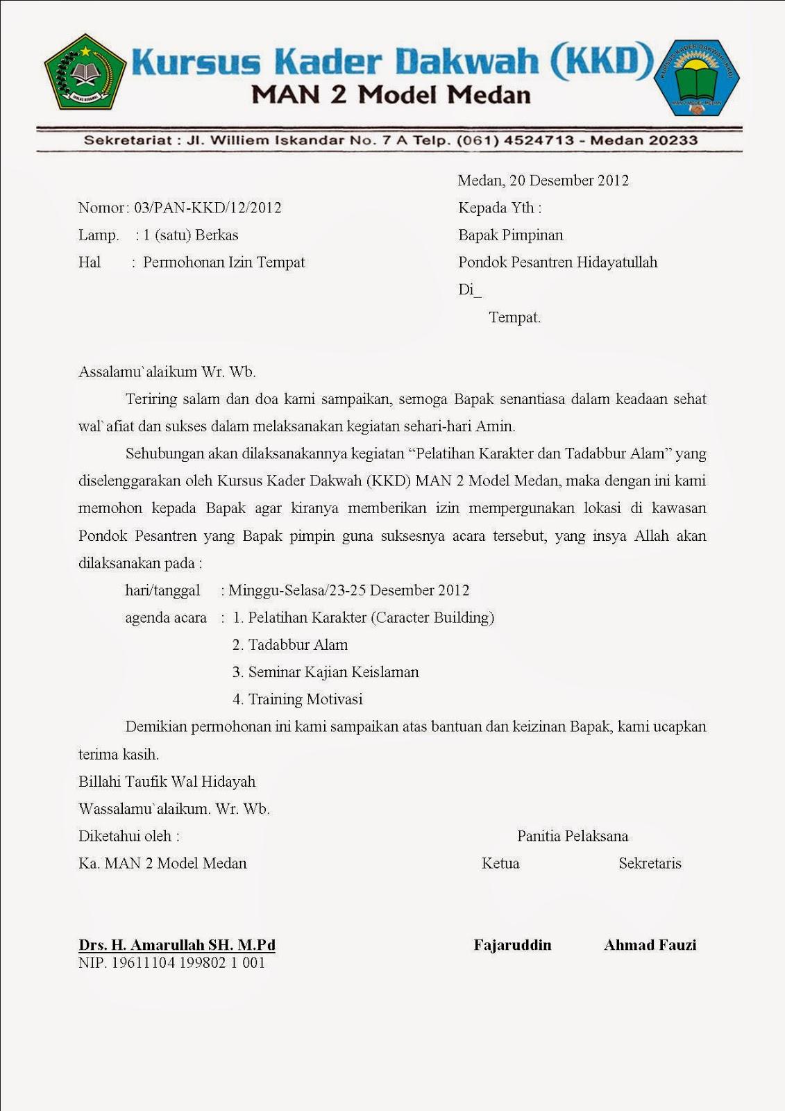 Contoh Surat Permohonan Izin Contoh Surat Yang Baik Dan  Share The