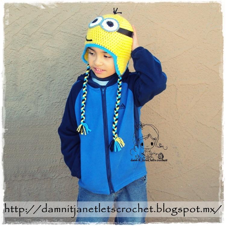 Damn It Janet Lets Crochet Minion Earflap Beanie