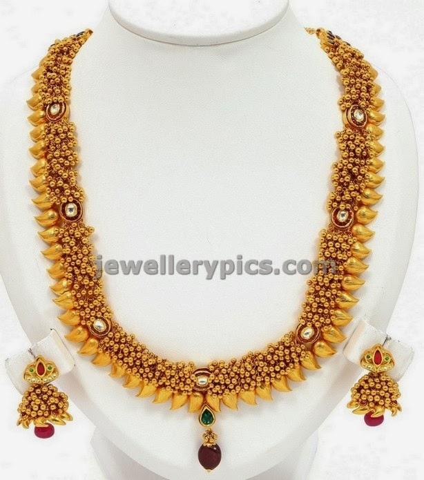 vbj tushi mango mala gold jewellery