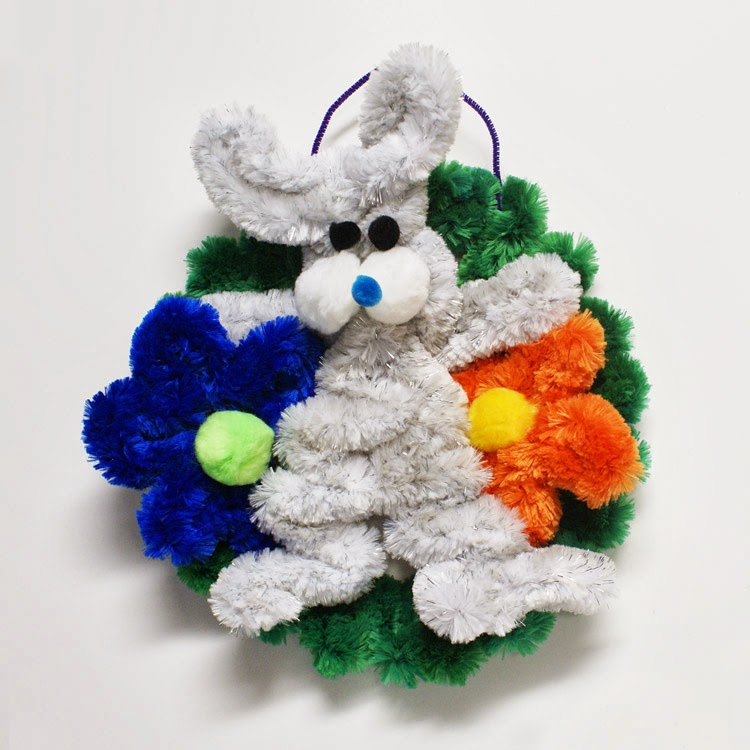 Easter Bunny Wreath by Tiffany Diaz of Pepperell Braiding Company