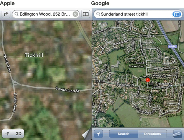 iPhone 5 Maps Fail,Wrong Maps of iPhone 5