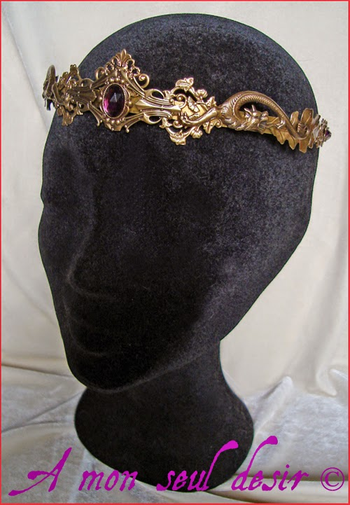 Couronne médiévale dragon tiare diadème crown circlet medieval renaissance Adragonite Targaryen Smaug Lord of the Rings