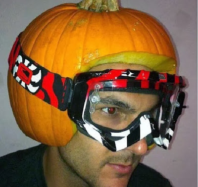 Pumpkin motorcycle helmet
