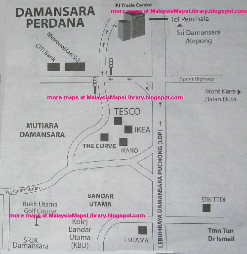 Malaysia Maps Library Map Of Damansara Perdana