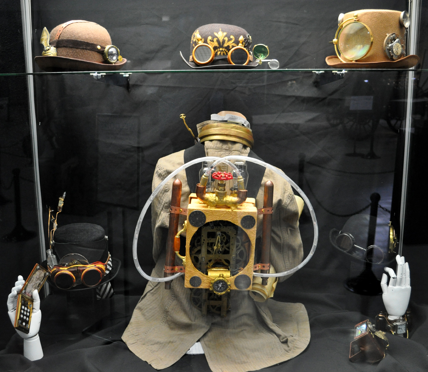 the steampunk devices and costumes of alex ferruzca at the san