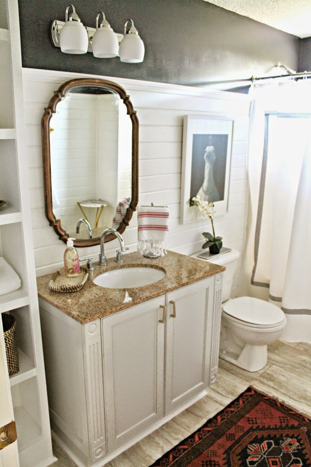 The shabby nest frugal friday for Guest bathroom makeover