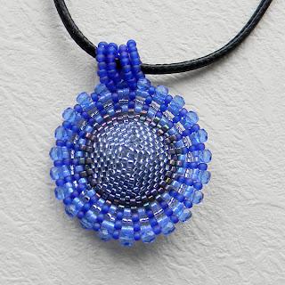 купить кулоны из бисера синий фиолетовый сваровски украшения украина