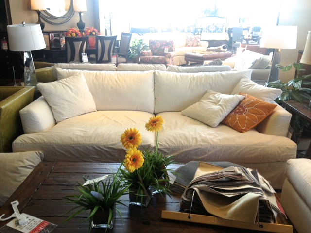 At Our Local Place, They Call This The Cloud Grand Slipcovered Sofa. We  Were Pretty Much Instantly Sold. The Price Was $800 Lower Than Arhaus, ...