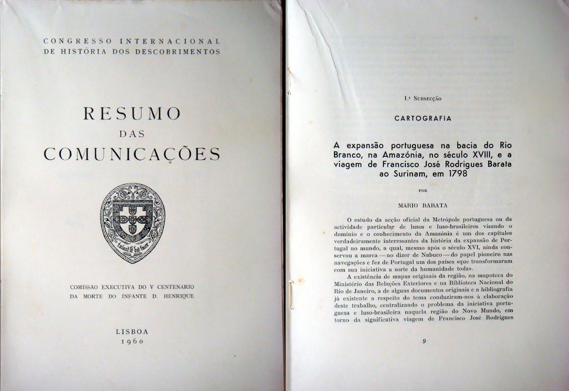 A viagem de Francisco José Rodrigues Barata ao Surinam em 1798