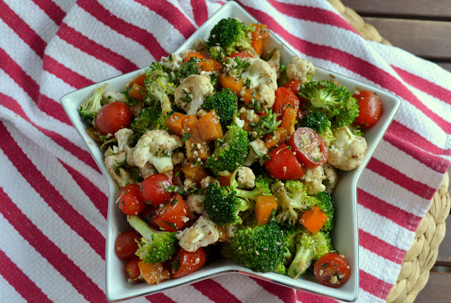 Broccoli Cauliflower Salad recipe