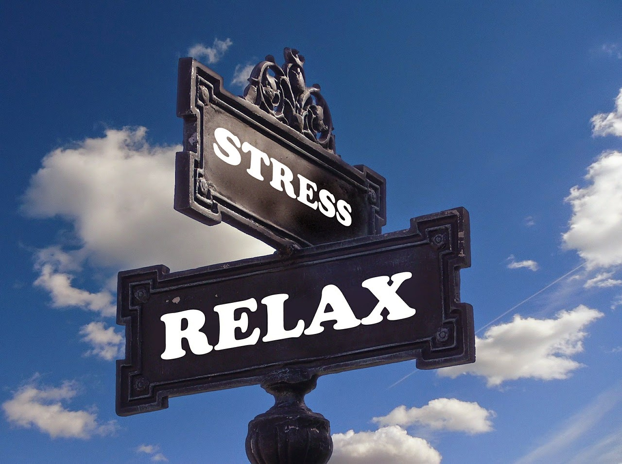 stress relax signpost from pixabay