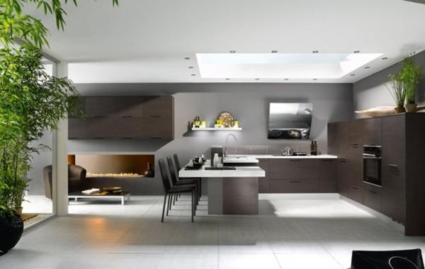 Modelos y dise os de cocinas abiertas cocinas modernass for Cocinas abiertas al pasillo