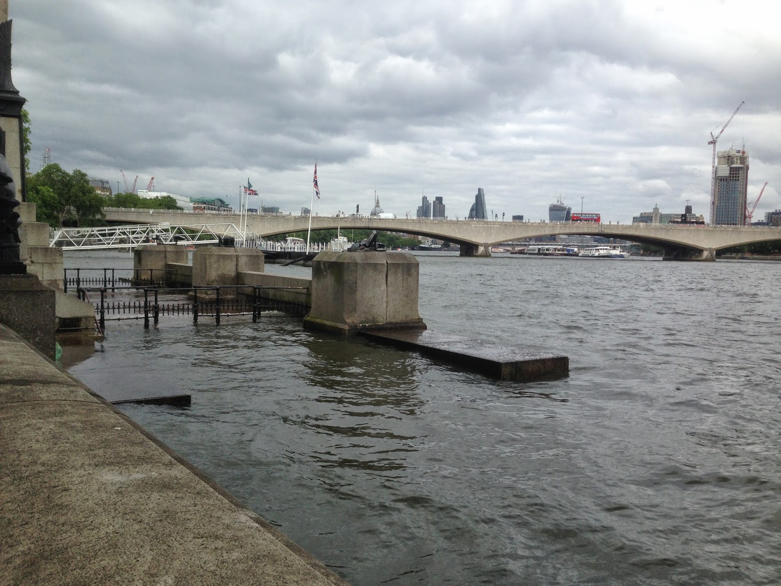 High Tide Victoria Embankment