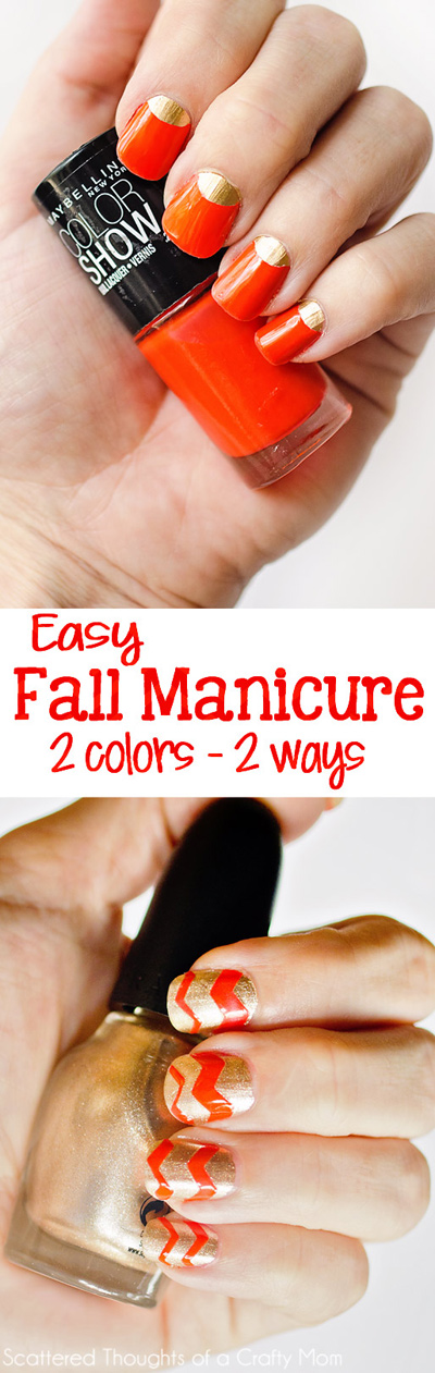 Two colors - 2 ways.  2 Easy, High Impact Nail Polish Tricks