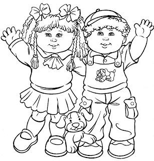 A Desenhar Crianças e jovens brincando colorir