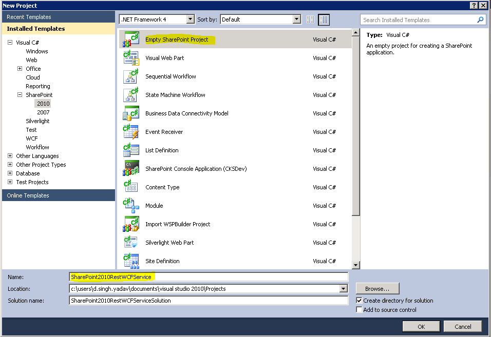 It\'s all about technical stuff...: Rest WCF Service in SharePoint 2010