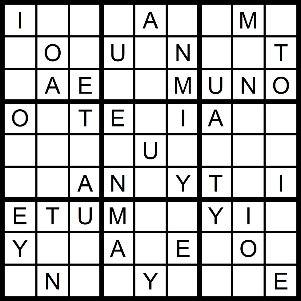 Magic Word Square: New Word Sudoku Puzzle for Thursday, 7/16/2015