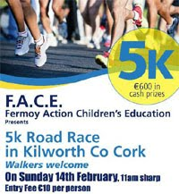 Charity 5k in Kilworth nr Fermoy...Sun 14th Feb 2016