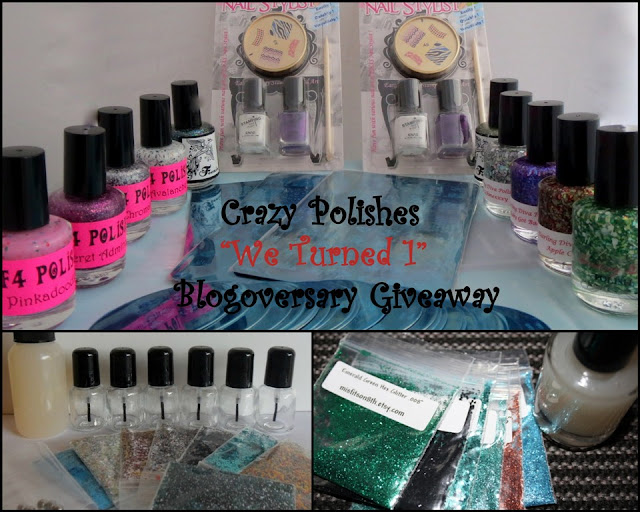 Crazy Polishes Giveaway!!!