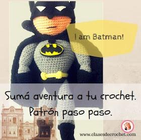 Batman Amigurumi Patron Espanol : Tejiendo lindo - Graciela Gaudi: Batman a crochet ...